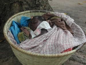 Baby Amada, rural Guinea-Bissau (2002) by Joanna Davidson
